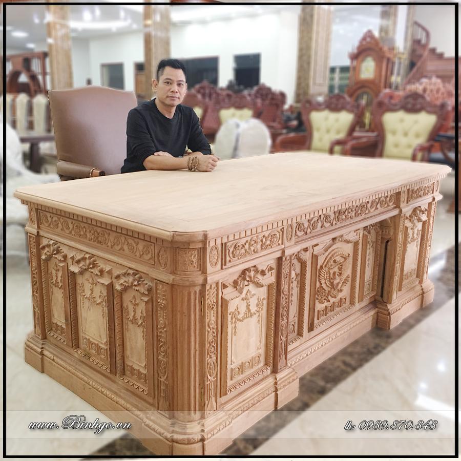 Xưởng sản xuất bàn làm việc gỗ tự nhiên uy tín tại Hà Nội và Bắc Ninh