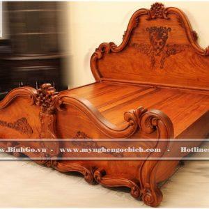 Giường ngủ tân cổ điển gỗ Hương