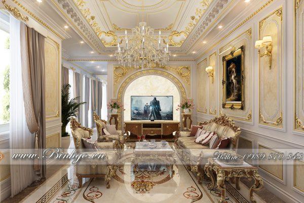 Thi công nội thất Biệt Thự dát vàng tân cổ điển