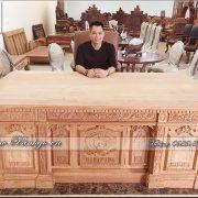 Bàn làm việc giám đốc gỗ Gõ Đỏ mẫu bàn Tổng thống Obama / Bàn làm việc Tổng thống Trump
