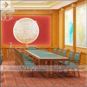 Mẫu bàn họp gỗ tự nhiên cho phòng Giám Đốc hoặc phòng lãnh đạo. Bàn họp được làm bằng Gỗ Gõ Đỏ. Có kích thước: 282x120x75cm. Đây là loại bàn họp phù hợp với phòng lãnh đạo có diện tích tương đối lớn từ 40-60m2.