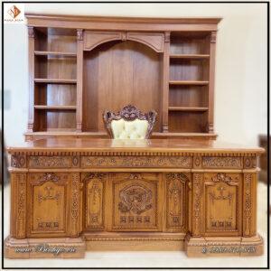 Combo bộ Bàn làm việc Obama và Tủ Tài liệu Obama, thiết kế theo chuẩn bản gốc ( Bản Full). Kích thước bàn: 217x117x81cm. Kích thước tủ: 335x262x48cm