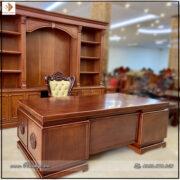 Bàn Giám Đốc mẫu hiện đại gỗ Gõ Đỏ kích thước: 217x107x81cm