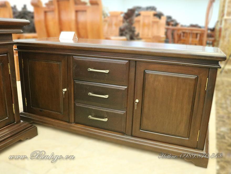 Tủ Thấp ( Bàn thấp ) để bên trài hoặc bên phải bàn làm việc. Dùng để máy in, tài liệu hoặc đồ trang trí phòng làm việc