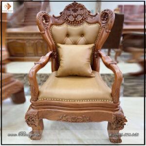 Ghế làm việc lãnh đạo gỗ tự nhiên năm 2021 - Mã ghế: G68-2021. Được làm bằng gỗ Gõ Đỏ và bộc Da nhập khẩu cao cấp.