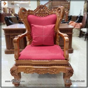 Ghế làm việc lãnh đạo gỗ tự nhiên năm 2021 ( Mã sản phẩm: GLD -2021). Được làm bằng gỗ Gõ Đỏ bộc Nỉ hoặc Da theo yêu cầu.
