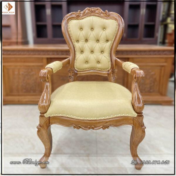 Ghế lãnh đạo chân tĩnh gỗ tự nhiên năm 2021. Gỗ Gõ Đỏ sơn imchem cao cấp. Mặt ghế bộc đệm nhập khẩu