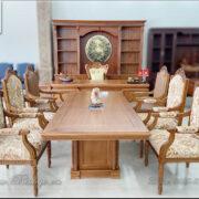 Combo Bàn giám đốc Bàn họp phòng giám đốc, Bàn họp phòng lãnh đạo gỗ Gõ Đỏ. Sản phẩm được làm thủ công bằng tay theo phương pháp truyền thống. Với thiết kế hiện đại mang phong cách của phòng họp Putin.