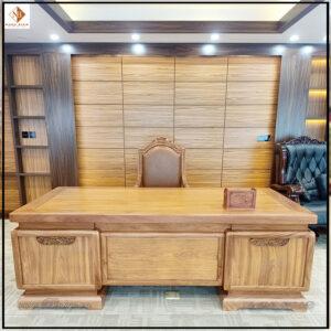 Bàn làm việc lãnh đạo mẫu hiện đại gỗ tự nhiên năm 2022 ( Model 2022). Kích thước: 217x107x77cm